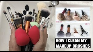 Rửa Cọ Đúng Cách Đơn Giản Tại Nhà - HOW I CLEAN MY MAKEUP BRUSHES | Ty Lê |