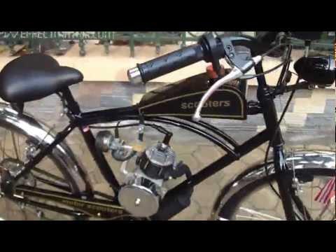 Xe đạp chế máy motor scooters.flv