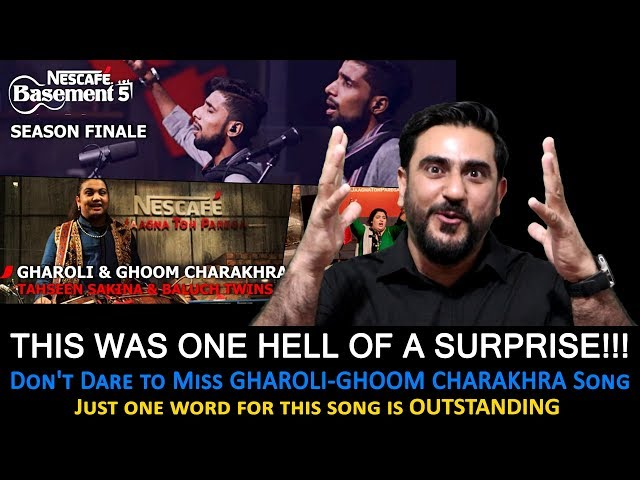 Reaction on Gharoli & Ghoom Charakhra | Tahseen Sakina | Baluch Twins | NESCAFÉ Basement Season 5
