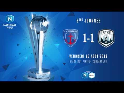 J3 : US Concarneau - Le Puy Foot 43 (1-1), le résumé I National FFF 2019-2020