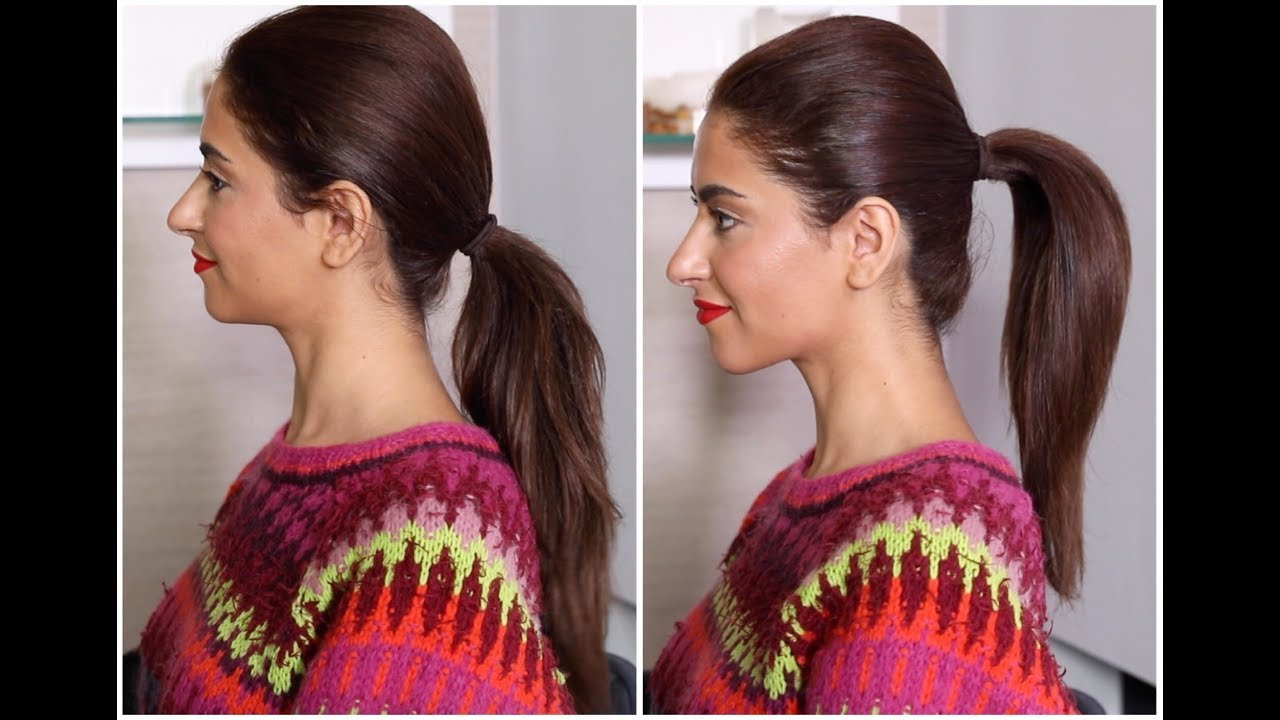 838572bd71 How To Create A Voluminous Ponytail