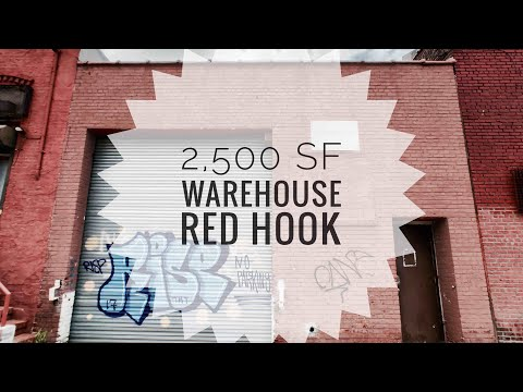 2,500 SF Warehouse for Lease with High Ceilings, Drive-in Gate! Red Hook, Brooklyn NY 👍 Video Tour