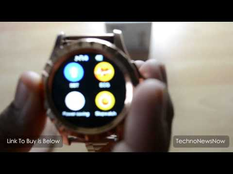 NO.1 Sun S2 Gold SmartWatch Review For Android iPhone Windows Phone From Gearbest.com