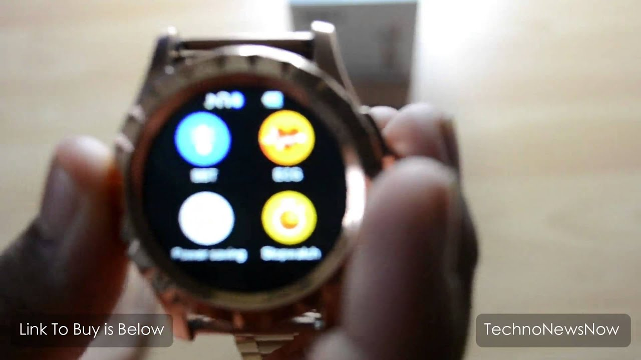 NO.1 Sun S2 Gold SmartWatch Review For Android iPhone ...