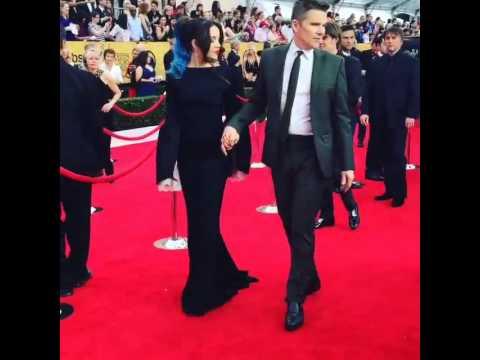 Boyhood Stars Ethan Hawke and Lorelei Linklater! SAG Awards TNT DRAMA