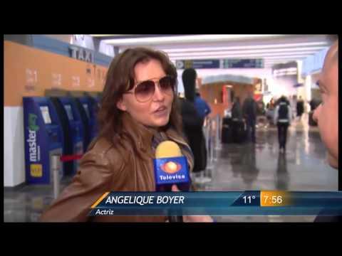 Las Noticias - Angelique Boyer y Sebastián Rulli llegan muy enamorados a Monterrey