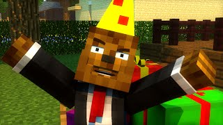 HAPPY BIRTHDAY Minecraft Animation (Food Fight)