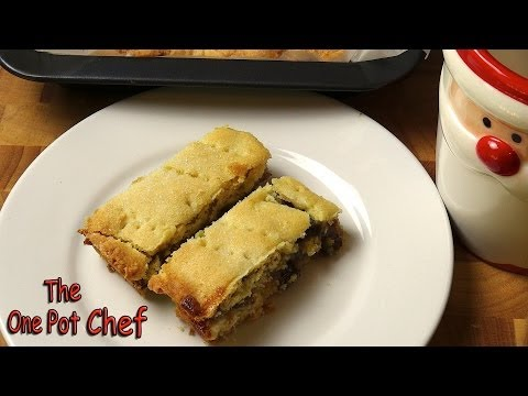Fruit Mince Shortbread Slice | One Pot Chef