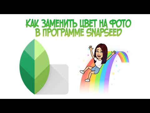 Как заменить цвет на фото в приложении Snapseed