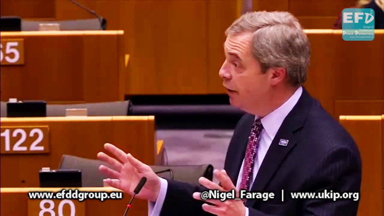 Nigel Farage exposes EU leaders' hypocrisy and faux outrage over President  Trump