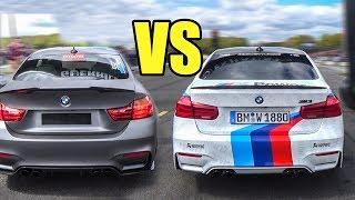Bmw m3 f80 vs bmw m4 f82 - drag race!
