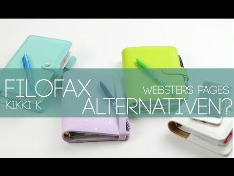 Filofax vs Kikki K vs  Websters Pages Vergleich I Filofax Alternative Deutsch German