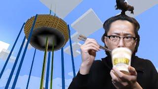 【カズ世界】一番目立つ建造物「ラーメン」:まぐクラ #106【マインクラフト】
