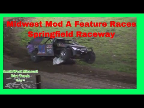 Midwest Mod A Feature Races  FULL RACE Springfield Raceway August 26, 2017