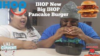 NEW BIG IHOP PANCAKE BURGER REVIEW