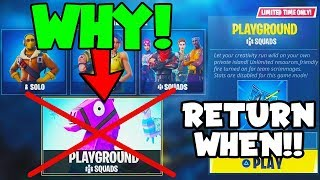 The REAL REASON Why Playground LTM Is Removed From Fortnite!! (Returning Day)