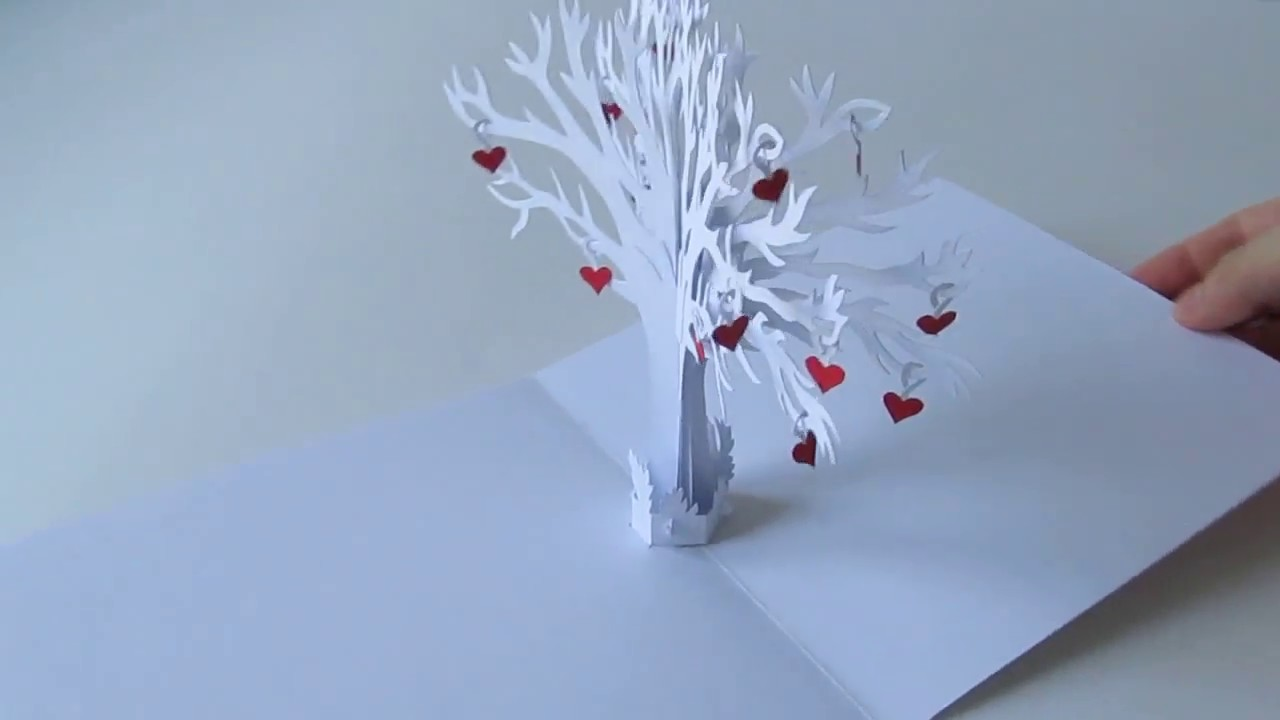Family Love Tree Pop Up Card YouTube