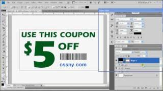 Tutorial Photoshop CS4 - How to create a coupon cut line as pattern -- Voice -- Easy as 1.2.3