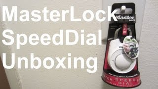 Masterlock Speed Dial Unboxing