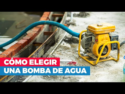 ¿Cómo elegir una bomba de agua?