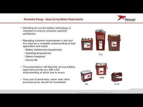 Trojan Battery Webinar - What Battery Is Best For My Solar Energy System?