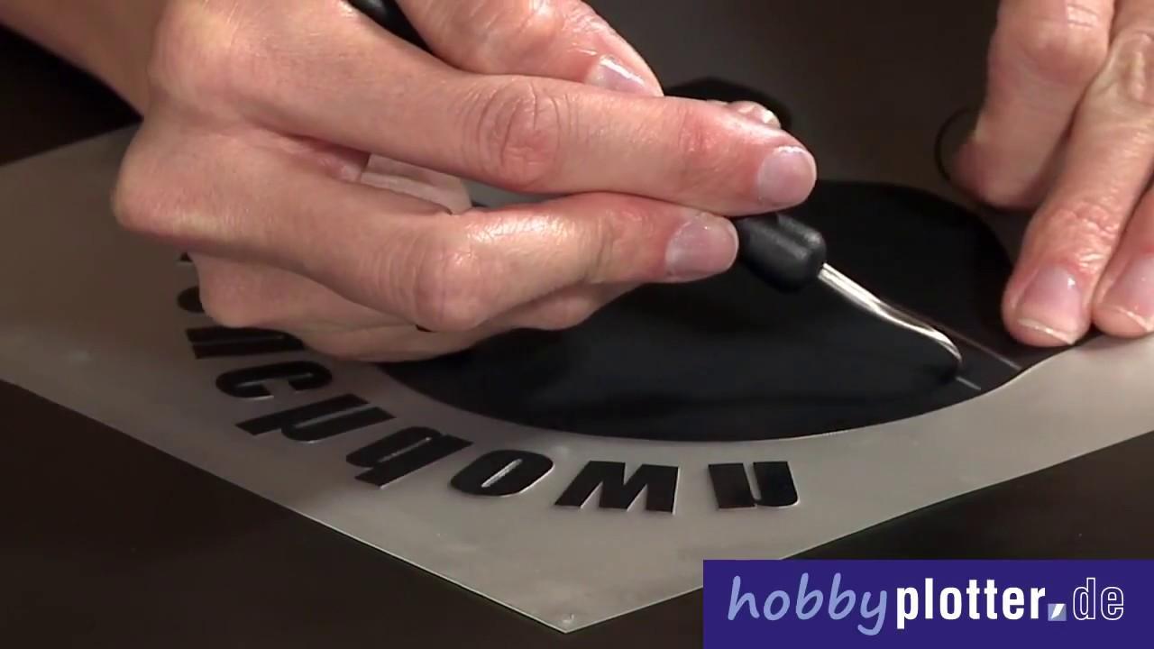 textilien mit thermotransfer selbst beschriften und mit dem hobbyplotter schneiden youtube. Black Bedroom Furniture Sets. Home Design Ideas