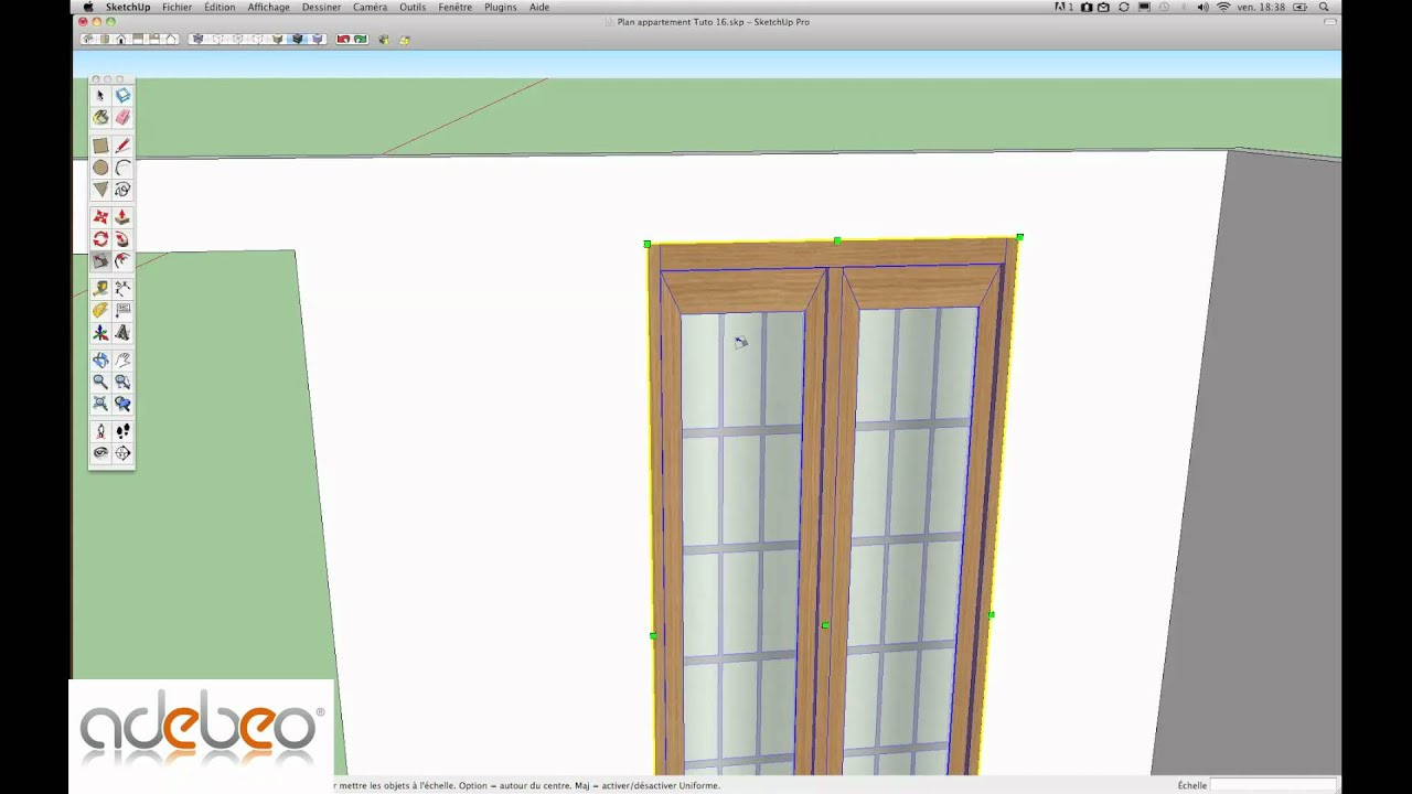 tutoriel sketchup 16 t l chargement de composants 1 youtube. Black Bedroom Furniture Sets. Home Design Ideas