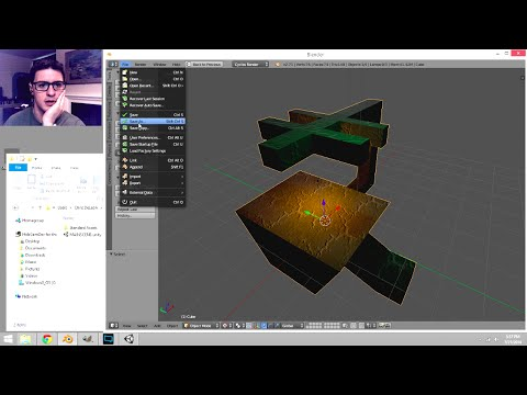 Cycles Baking to Textured Surface in Blender, for Unity3D
