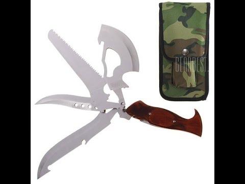 Gearbest.com: Туристический нож со сменными лезвиями 4 в 1