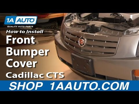 How to Install Replace Front Bumper Cover Cadillac CTS 03-07 1AAuto.com