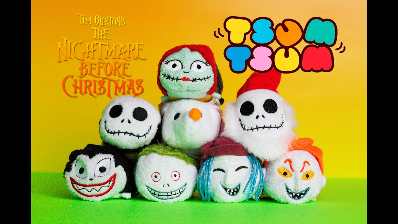 The Nightmare Before Christmas Tsum Tsum Collection Review - YouTube