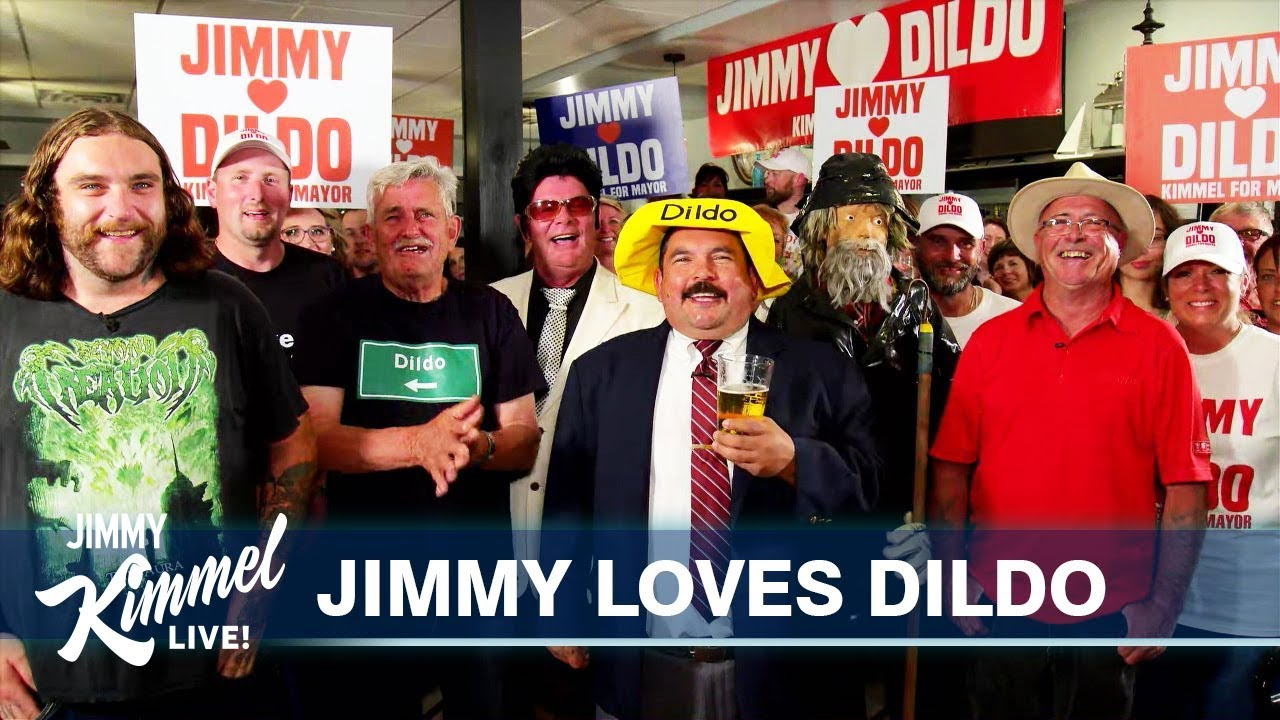 Image result for Jimmy Kimmel and Matt Damon take their feud to Dildo