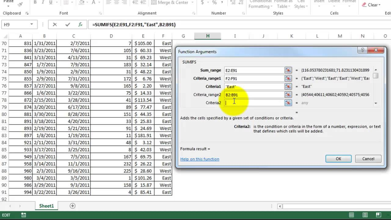 Learn excel sumifs formula: sumifs function step by step tutorial.