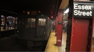 ᴴᴰ R1 - R9 Excursion M train Departs Essex Street - Delancey Street