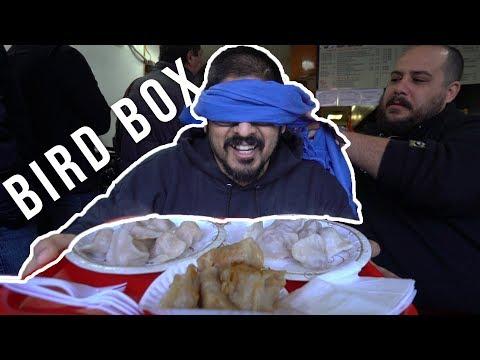 BIRD BOX CHALLENGE DUMPLING EDITION - Bird Box In New York City Dumplings