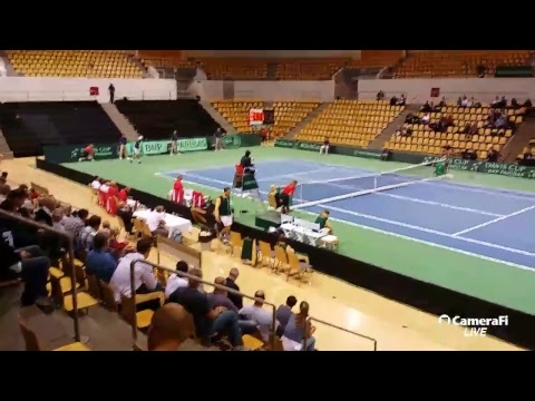 Davis Cup tennis South Africa v. Denmark
