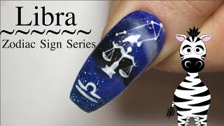 Libra Acrylic Nail Art Tutorial | Zodiac Sign Series