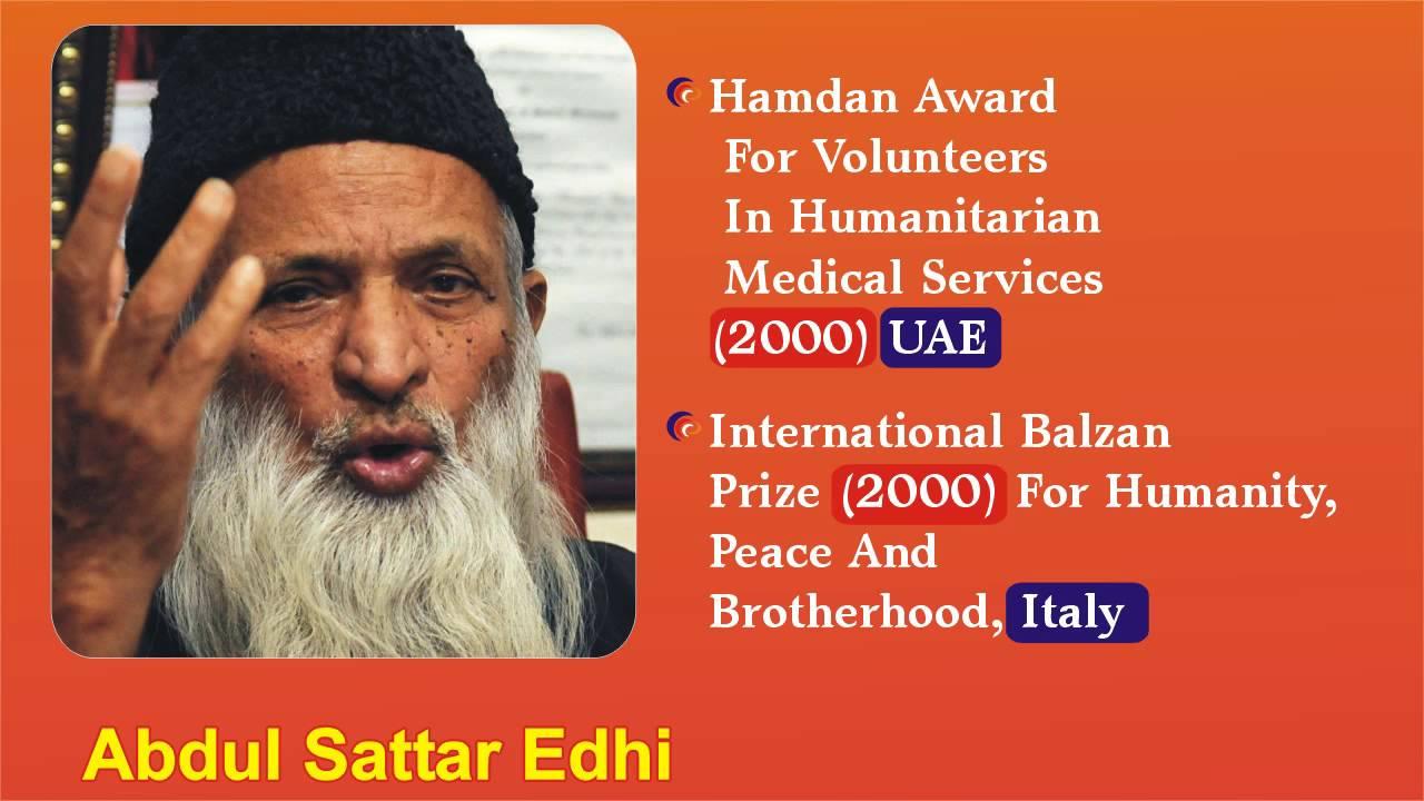 Abdul sattar edhi report