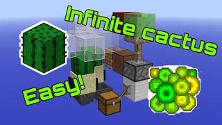 Minecraft Bedrock 1.16 Super Simple Zero Tick Cactus Farm