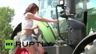vuclip Germany: Bavarian babes pose for erotic agriculture calendar
