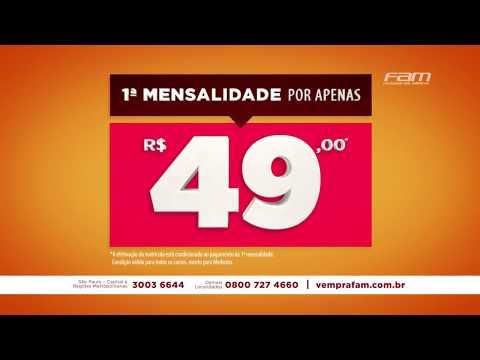 FAM - 1ª Mensalidade por R$ 49