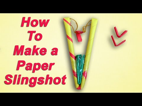 How to Make a Simple Paper Slingshot - Easy and Strong
