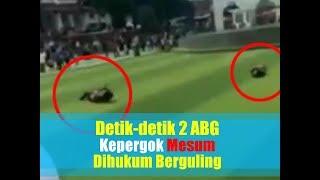 Video Detik-detik 2 ABG Kepergok Mesum dan Dihukum Berguling
