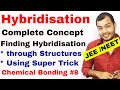 Chemical Bonding 08 | Hybridisation | How to Find Hybridisation | Hybridisation of Atom IIT JEE NEET