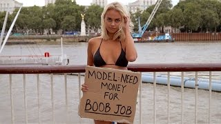 Bikini Model Asks People To Give Her Money For A Boob Job, And There's A Catch (NSFW)