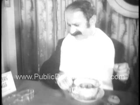 Proper Donut Dunking Etiquette 1941 archival footage