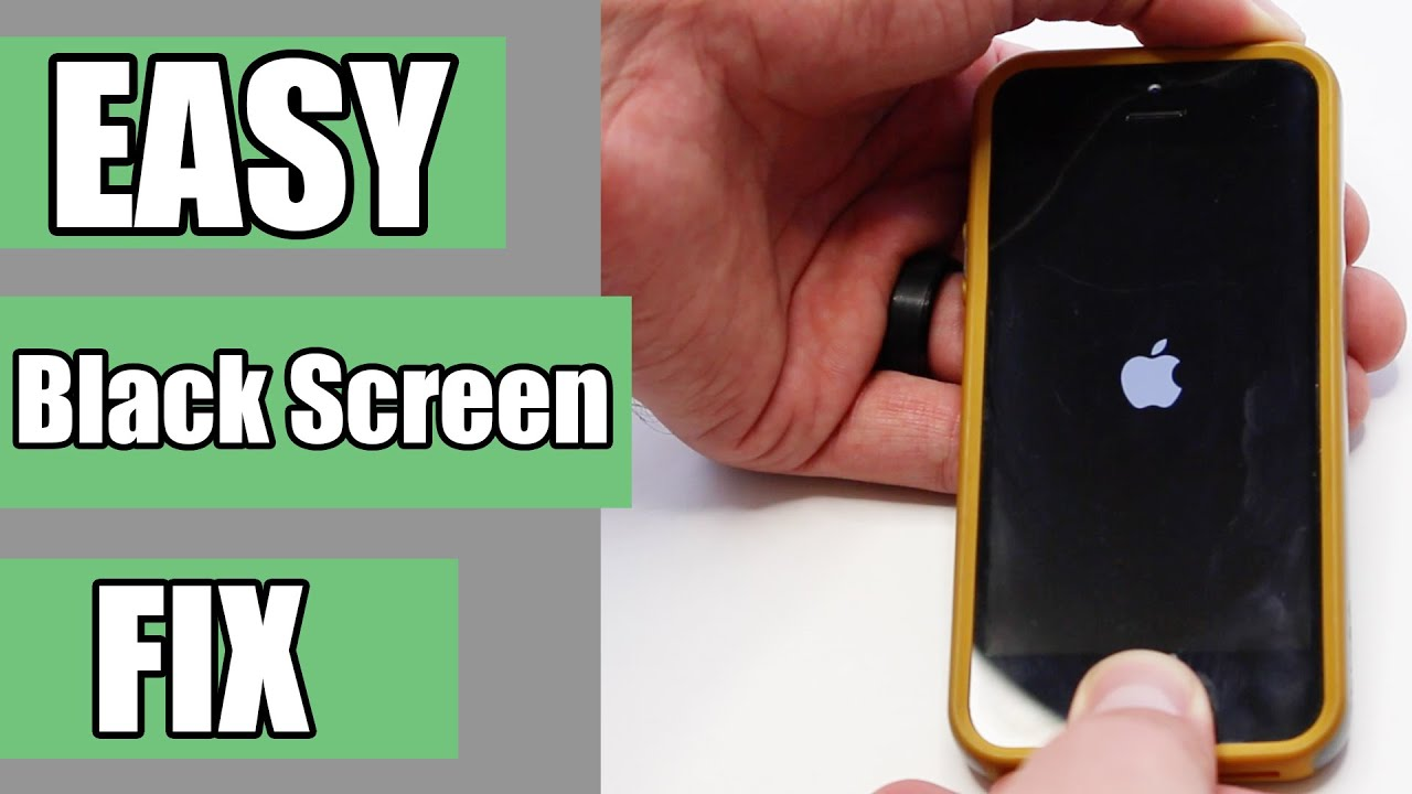 iphone screen went black how to fix easiest fix for iphone ipod black screen 2338