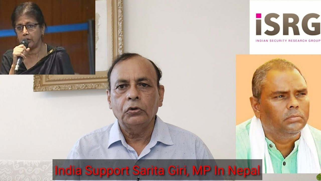 Deal Firmly  With Nepal - Support Sarita Giri & Black List Anti-Indians/NK Sood Ex-RAW