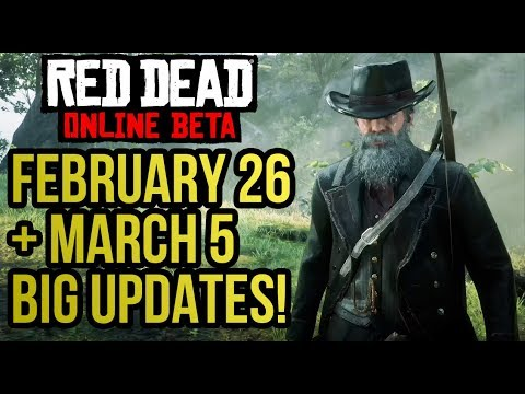"Red Dead Redemption 2 Online - Reviewing the ""BIG"" Content Update (Feb 26 + March 5 New Updates) thumbnail"