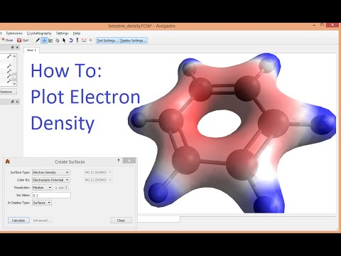 Avogadro with Gaussian Tutorial Electron Density